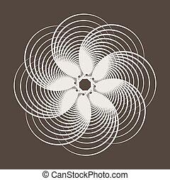 abstratos, padrão, de, cruzar-se, circles.