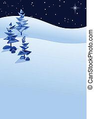 abstratos, paisagem inverno