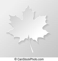 abstratos, papel, folha, maple