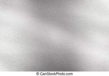 abstratos, parede, textura, onda, fundo, metálico, escovado, prata