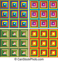 abstratos, pattern., coloridos, vector.