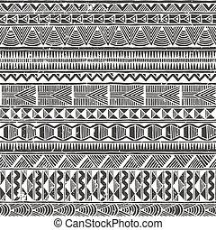 abstratos, pattern., seamless, experiência., vetorial, étnico