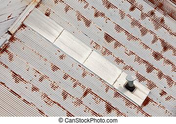abstratos, pattren, metal, telhado, fundo, grungy