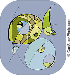 abstratos, peixe
