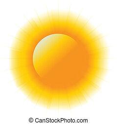 abstratos, poder, sol, imagem, logotipo