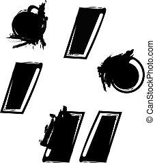 abstratos, pontuação, símbolo, marca