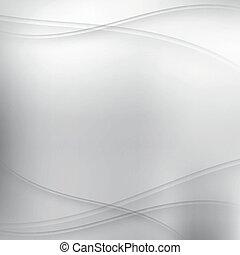 abstratos, prata, fundo, com, ondas