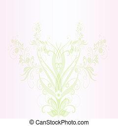 abstratos, primavera, floral