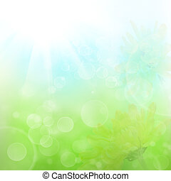 abstratos, primavera, floral, fundo