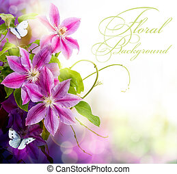 abstratos, primavera, floral, fundo, para, desenho