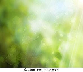 abstratos, primavera, natureza, fundo
