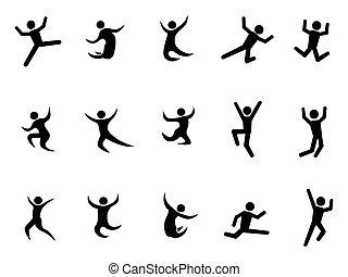 abstratos, pular, figuras