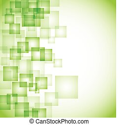 abstratos, quadrado, experiência verde