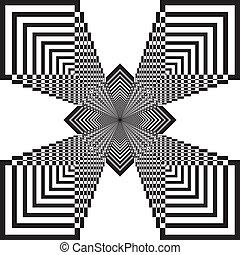 abstratos, quadrado, explodindo, fundo, 3d
