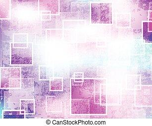 abstratos, quadrados, grunge, fundo