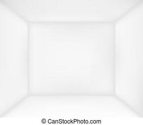 abstratos, quarto branco
