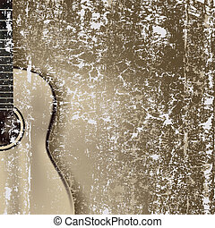 abstratos, rachado, fundo, violão clássico