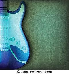 abstratos, rachado, fundo, violão elétrico