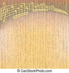 abstratos, rachado, música, fundo