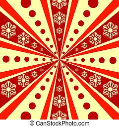 abstratos, raios, fundo, (vector), natal