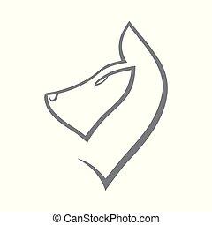 abstratos, símbolo, cace ícone