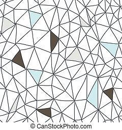 abstratos, seamless, doodle, padrão