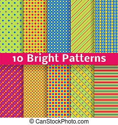 abstratos, seamless, padrões, luminoso, vetorial, (tiling)., geomã©´ricas