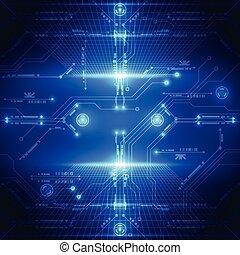 abstratos, sistema, ilustração, fundo, vetorial, futuro, tecnologia