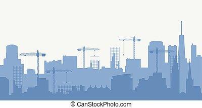 abstratos, skyline industrial