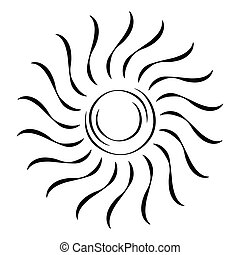 abstratos, sol, forma
