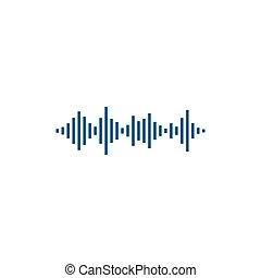 abstratos, som, logotipo, onda, vetorial