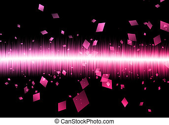 abstratos, soundwave, retângulo, soundwave, isolado, pretas,...