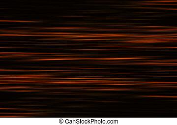 abstratos, superfície, onda, água, profundo, laranja
