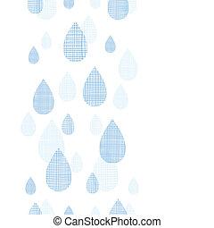 abstratos, têxtil, azul, gotas chuva, vertical, seamless,...