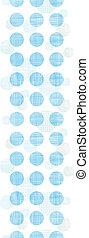 abstratos, têxtil, azul, pontos polka, listras, vertical, seamless, padrão, fundo