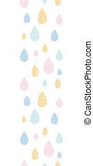 abstratos, têxtil, coloridos, gotas chuva, vertical, seamless, padrão, fundo