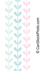 abstratos, têxtil, coloridos, videiras, folhas, vertical, seamless, padrão, fundo