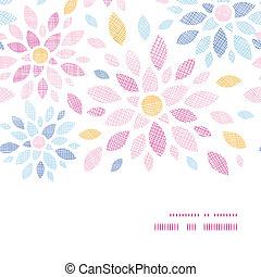 abstratos, têxtil, flores coloridas, horizontais, quadro, seamless, padrão, fundo