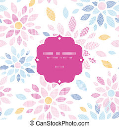 abstratos, têxtil, flores coloridas, quadro, seamless, padrão, fundo