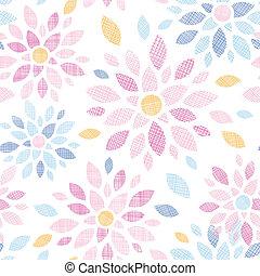 abstratos, têxtil, flores coloridas, seamless, padrão, fundo