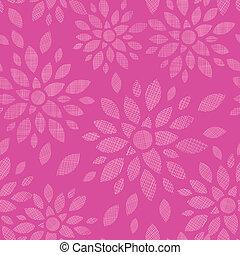 abstratos, têxtil, flores, cor-de-rosa, seamless, padrão, fundo