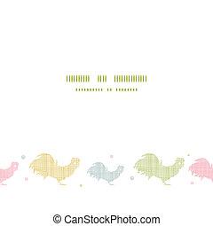 abstratos, têxtil, galos, horizontais, seamless, padrão, fundo