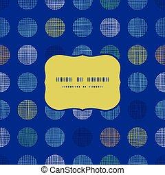 abstratos, têxtil, pontos polka, ligado, azul, quadro, seamless, padrão, fundo