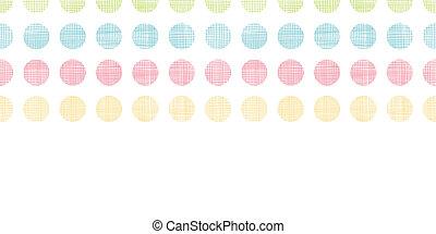 abstratos, têxtil, pontos polka, listras, horizontais, seamless, padrão, fundo