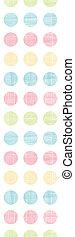 abstratos, têxtil, pontos polka, listras, vertical, seamless, padrão, fundo
