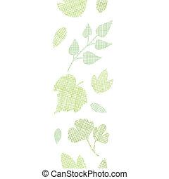 abstratos, têxtil, textura, vertical, borda, seamless, padrão, fundo
