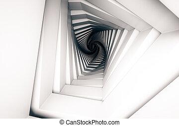 abstratos, túnel