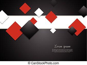 abstratos, tech, fundo, com, quadrados