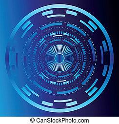 abstratos, tecnologia, círculo