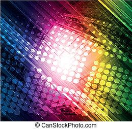 abstratos, tecnologia, coloridos